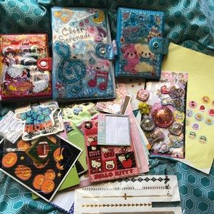 Japanese sticker books with stickers